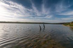 Water lake. Blue sky and water lake at seven sisters national park Royalty Free Stock Photos