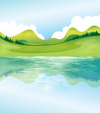 The water and land resources royalty free illustration