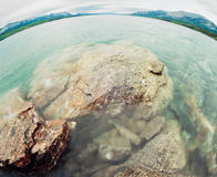 Water landscape Tagish Lake Yukon Territory Canada Royalty Free Stock Photography