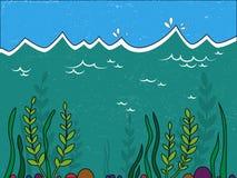 Water landscape. Undersea world Royalty Free Stock Image