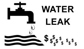 Water leak concept Royalty Free Stock Photography