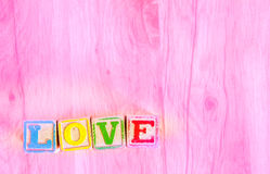Wooden Toy Blocks Spell Love Stock Images