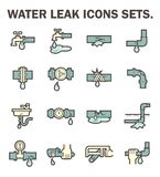 Water leak icon Royalty Free Stock Image