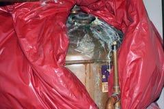 DHW storage cylinder LEAK Royalty Free Stock Photo