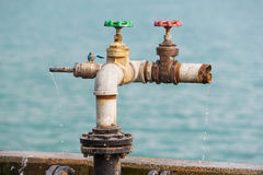 Water leaked from valves Royalty Free Stock Photos