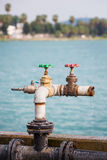 Water leaked from valves Royalty Free Stock Photo