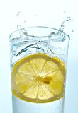 Water with a lemon Stock Photo