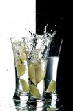 Water and lemon Royalty Free Stock Image