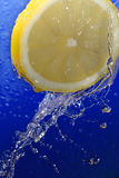 Water on lemon Royalty Free Stock Image