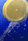 Water on lemon Royalty Free Stock Image
