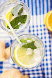 Water with lemon Royalty Free Stock Photos
