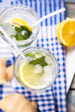 Water with lemon Stock Photography