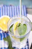 Water with lemon Stock Photos