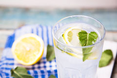 Water with lemon Royalty Free Stock Photography