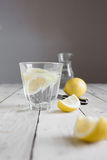 Water and lemon Stock Image