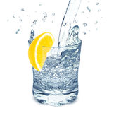 Water with lemon Stock Image