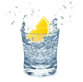 Water with lemon Royalty Free Stock Images