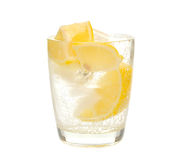 Water with lemon and ice Royalty Free Stock Photography