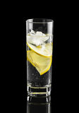 Water with Lemon and ice Stock Photos