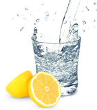 Water with lemon Stock Images