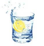 Water and lemon Royalty Free Stock Photos