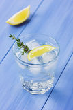 Water with lemons and ice Royalty Free Stock Photo