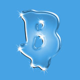 Water letter B Stock Image