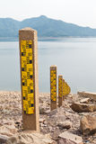 Water level. Image of Water level Water gauge royalty free stock photography