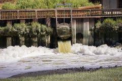 Water level control station. Don Edwards wildlife refuge, Fremont, San Francisco bay area, California royalty free stock image