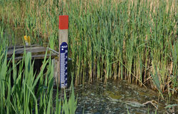 Water level gauge. Stock Image
