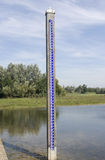 Water level gauge in the Netherlands. Royalty Free Stock Photo