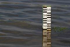 Water level indicator Stock Images