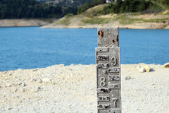 Water level indicator for monitoring the water level. Stock Photography