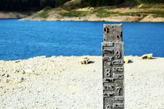 Water level indicator for monitoring the water level. Stock Photos