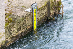 Water level indicator in the Ruhr Royalty Free Stock Image