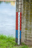 Water level measure Stock Image