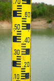 Water level measure tool Stock Photo