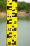 Water level measure tool. In dam Stock Photo