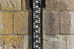 Water level measurement gauge. Stock Photos