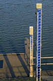 Water levels measurements in the river IJssel Royalty Free Stock Photo