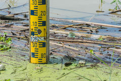 Water levels pole Stock Photo