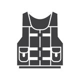 Water Life Vest Jacket Icon Stock Image