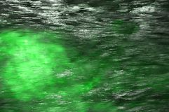Water and light bright forest green abstract background Royalty Free Stock Photo