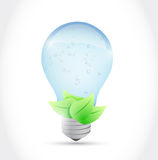 Water light bulb and leaves illustration design Stock Images