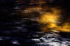 Water and light dark night indigo background Royalty Free Stock Photos