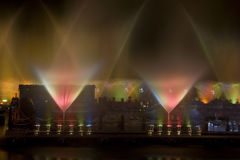 Water and Light Show Royalty Free Stock Photos