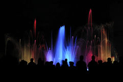 Water light show Stock Photos