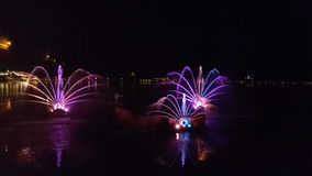Water light show in Bled. Stock Photography