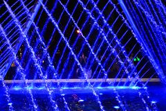 Water light show in Lima city stock images
