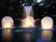Water lights. Water fountains in Chiang Mai. Thailand stock image